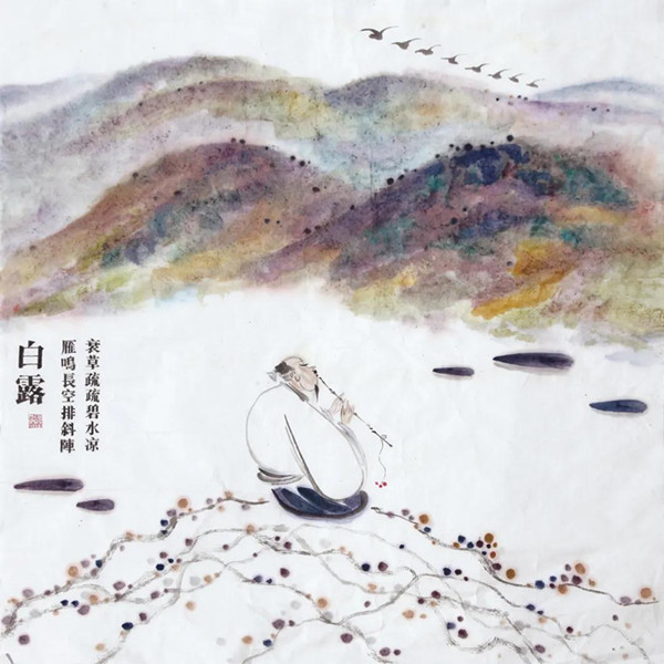 张立《二十四节气》绘画系列作品赏析